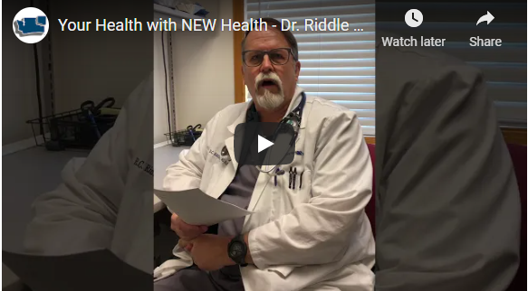 Dr Riddle colorectal cancer screening video pic